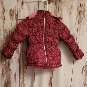 Pink Platinum girls 5/6 puffer coat with h…